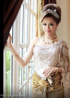 Chakriya Pich - Khmer bridal - Modern Khmer traditional wedding clothes.