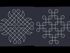 small sikku kolam// melikala muggulu//daily rangolies// traditional rangoli - YouTube