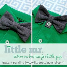 Oo a button on bow tie! Great idea