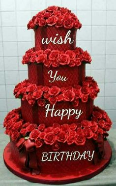 Write name on birthday cake pic wrapped by ribbon happy birthday greetings with name pic happy - Happy birthday cake picture ...