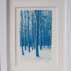 Breath Of Winter Fine Art Photograph #cyanotype #blue