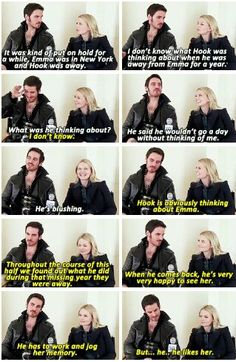 Colin and Jennifer talk Hook and Emma