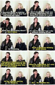 Colin and Jennifer talk Hook and Emma