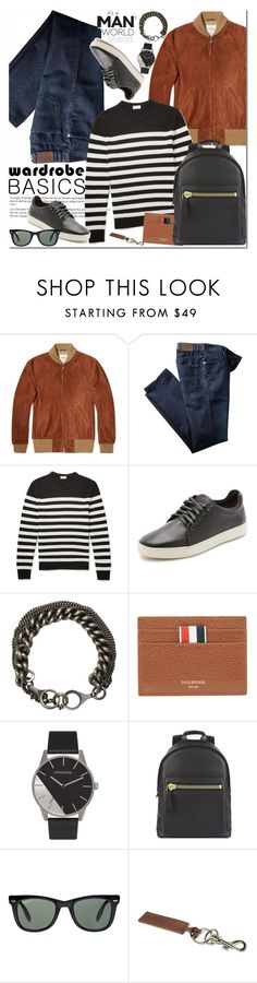 """""""Wardrobe Basics - Menswear"""" by oshint ❤ liked on Polyvore featuring Golden Bear, Yves Saint Laurent, rag & bone, Ann Demeulemeester, Thom Browne, Tom Ford, Ray-Ban, A.P.C., mens and men"""