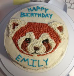[bill-rinaldi:    Here is the birthday cake i made for one of our Background Painters Emily Tetri. I didn't want to put a knife to poor Pabu's face but he was just too delicious….]
