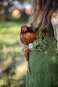 Unė is wearing linen apron from our shop allthebeautifullinen Country Charm, Country Life, Country Living, Country Farmhouse, Country Roads, Future Farms, Easter Table Decorations, Down On The Farm, Green Plants