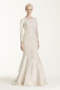 Oleg Cassini Open Back Long Sleeved Wedding Dress - Davids Bridal. Eve  Zimmerle · Wedding Dresses f26526a12604