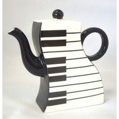 Piano teapots! www.teapots4u.com www.brainbrews.com