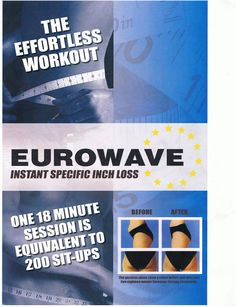 Eurowave, lose inches fast!  #loseinches #situps