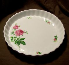 Vintage Christineholm Porcelain Rose Quiche / by GypsumMoonVintage
