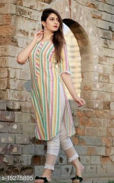 Checkout this latest Kurta Sets Product Name: *Alisha Attractive Women Kurta Sets* Kurta Fabric: Rayon Bottomwear Fabric: Rayon Fabric: Cotton Sleeve Length: Three-Quarter Sleeves Set Type: Kurta With Bottomwear Bottom Type: Pants Pattern: Printed Multipack: Single Sizes: S, M (Bust Size: 19 in, Shoulder Size: 13 in, Kurta Waist Size: 36 in, Kurta Hip Size: 20 in, Kurta Length Size: 40 in)  L (Bust Size: 20 in, Shoulder Size: 13.5 in, Kurta Waist Size: 38 in, Kurta Hip Size: 21 in, Kurta Length Size: 40 in)  XL (Bust Size: 21 in, Shoulder Size: 14 in, Kurta Waist Size: 40 in, Kurta Hip Size: 22 in, Kurta Length Size: 40 in)  XXL (Bust Size: 22 in, Shoulder Size: 14.5 in, Kurta Waist Size: 42 in, Kurta Hip Size: 23 in, Kurta Length Size: 40 in)  Country of Origin: India Easy Returns Available In Case Of Any Issue   Catalog Rating: ★4 (5843)  Catalog Name: Alisha Voguish Women Kurta Sets CatalogID_3046299 C74-SC1003 Code: 663-15275895-969