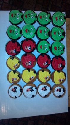 * Angry bird cupcakes