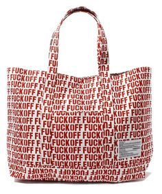 FABRICK FABRICK Lemon and soda jointed works ETHOS AND BAL personnel collection TOTE BAG (tote bag) of (fabric) | Red