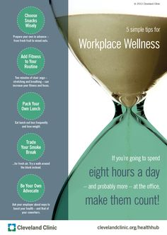 5 simple tips for workplace wellness. #work #wellness #healthy. Brought to you by ShopletPromos.com - promotional products for your business.