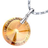 Pugster November Birthstone Topaz Crystal Whipping Top Pendant
