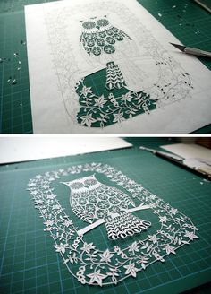 Suzy Taylor, an extraordinarily talented paper-cut artist in Hertfordshire, England, creates mind-bogglingly detailed works of paper art that are cut entirely by hand. She cuts each of her original designs out of a single piece of paper.