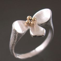 Image of Lotus Ring with 14k Center
