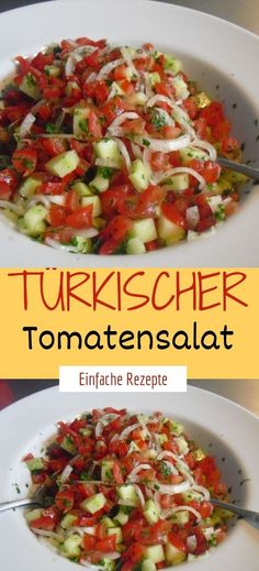 Zutaten 100 g Zwiebel(n) ½ TL Salz 500 g Tomate(n) 250 g Gurke(n) 1 kleine Pepe… – Salade Salades Composées Salades Nederlands Salad Recipes For Parties, Salad Recipes Healthy Lunch, Salad Recipes For Dinner, Chicken Salad Recipes, Healthy Salad Recipes, Lunch Recipes, Drink Recipes, Grilling Recipes, Easy Recipes