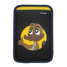Platypus giving thumbs up cartoon iPad mini sleeves