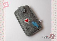 Iphone Case Felt Smartphone Case Lovebird