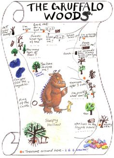 Gruffalo Woods  http://www.sussexgreenliving.co.uk/2013/01/our-treasure-hunt-in-the-gruffalo-woods/