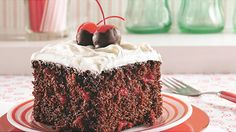 Chocolate Cherry Cola Cake. Chocolate, maraschino cherries and cherry cola equals a moist chocolate cherry cake. Find quick, easy and delicious recipes at DollarGeneral.com.