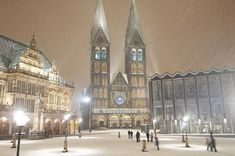 Schnee in Bremen Big Ben, Cathedral, Building, Winter, Travel, Search, Google, Pictures, Bremen