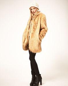 Enlarge ASOS Long Faux Fur Coat