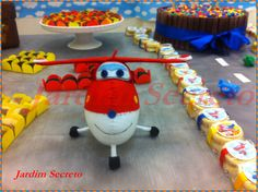 Jett / Festa Super Wings / Party Super Wings / feltro / felt