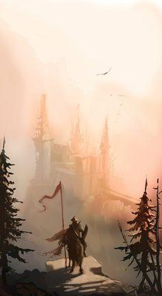 #concept #speedpaint #knight #castle #illustration Castle Illustration, Speed Paint, Knight, Concept, Illustrations, Painting, Art, Art Background, Illustration