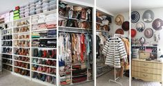 Amazing organized closet!