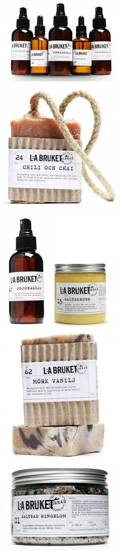 L:a Bruket,手工皂及spa产品,来自瑞典。 Great looking simple product #packaging PD