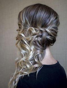 15 Very modern and trendy hairstyles - Frisuren abschlussball - Side Ponytail Hairstyles, Down Hairstyles, Easy Hairstyles, Wedding Hairstyles, Hairstyles 2016, Modern Hairstyles, Homecoming Hairstyles, Ponytail Updo, Prom Updo
