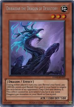Dribaidar the Dragon of Desultory custom YuGiOh card