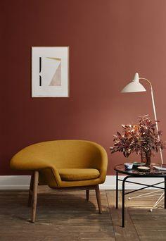 Home Interior, Modern Interior Design, Home Design, Interior Decorating, Design Ideas, Danish Interior, Interior Office, Industrial Decorating, Orange Interior