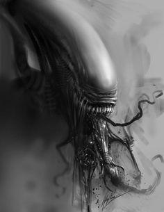 Sexy Alien by AlexRuizArt on DeviantArt Alien Vs Predator, Predator Movie, Saga Alien, Alien Art, Xenomorph, Arte Horror, Horror Art, Hr Giger Alien, Giger Art