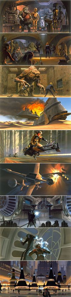 Ralph McQuarrie - Star Wars Episode VI Production Paintings