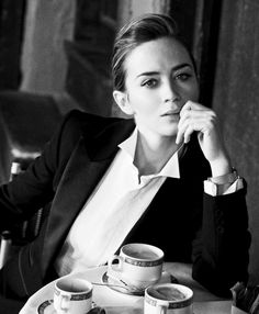 "milusvery: "" "" Emily Blunt, photographed by Peter Lindbergh for IWC Schaffhausen - A Sparkle to the Wrist - Portofino Midsize Collection, 2014. "" """