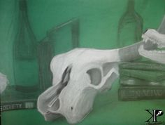 Still life study, Chalk/Charcoal. Facebook.com/kylesperception. Art by Kyle Davenport. Come check it out! Don't forget to like & stay tuned for future posts! Also Check out Society6.com/kylesperception for more cool stuff!