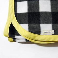 Easy Bias Tape Bound Fleece Blanket