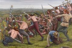 """Mons Graupius AD 83  """"Agricola's Batavian infantry advances against the Caledonians""""   Seán Ó'Brógáin"""
