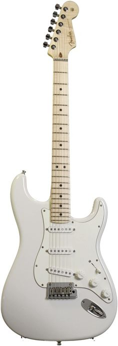 "Solidbody Electric Guitar with Alder Body, Flame ""AA"" Maple Neck, Maple Fingerboard, and 3 DiMarzio Single-coil Pickups - Olympic White (NOS)"