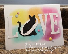 Stampin' Up! Quincy Demonstrator Cat Punch with Large Letter Dies