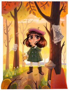 ArtStation - Little Misfortune (fanart), Sevil Burgan Creepy Games, Bow Art, Sally Face Game, Little Misfortune, Miss Fortune, A Hat In Time, Rpg Horror Games, Best Horrors, Indie Games