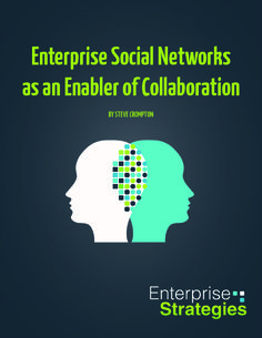 """""""Free Download: Enterprise Social Networks as an Enabler of Collaboration"""" by Andy Jankowski http://enterprisestrategies.com/category/blog/"""