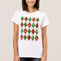 Fun Christmas Argyle Red and Green T-Shirt - Xmas ChristmasEve Christmas Eve Christmas merry xmas family kids gifts holidays Santa
