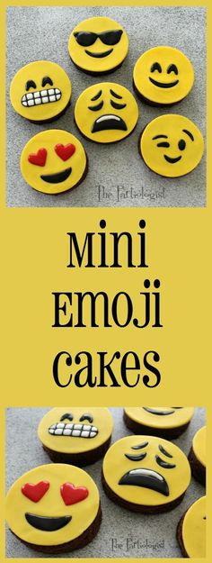 Emoji's, don't you love 'em? There is pretty much an Emoji for every emotion. So when I made the mini Emoji cakes, I have to say I felt ev...
