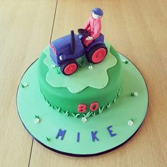 Blue Tractor Cake