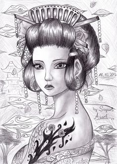 Beautiful Geisha. Found on Google...