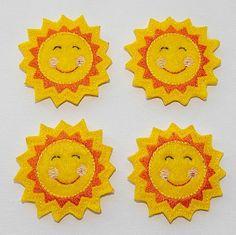 FELTIE Sunshine Felt Applique  Sun Felt by lilshoppeofstitches, $3.45 Mug Warmer, Felt Applique, Etsy Crafts, Felt Crafts, Arts And Crafts, Crafty, Sewing, Rainbows, Projects